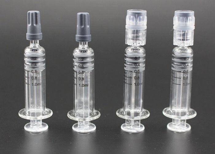 Measurement Mark Glass Syringe 1ml Luer Lock Syringe For CBD Oil