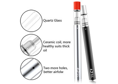 CBD Ceramic Coil Vapour Pen 320mAh Battery Capacity With 4 * 1.0mm Oil Holes