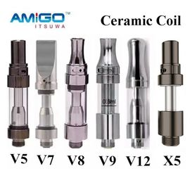 China Original Amigo Liberty X5 Vape Vaporizer Pen Cartridge 0.5ml 1ml Pyrex Tank Coil Atomizer factory