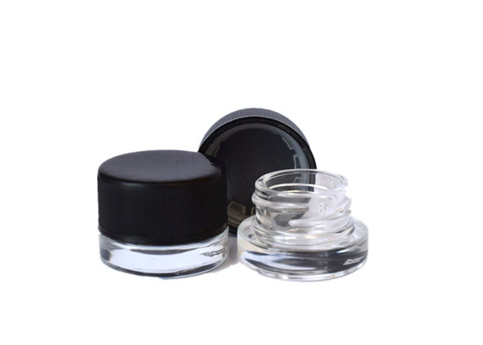 5ml Cube Glass Concentrate Jar with Child Resistant Cap 6 Colors