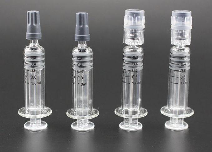 Luer Lock Glass Syringe 1ml Capacity With Measurement Transparent Color